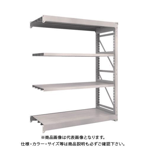 【運賃見積り】【直送品】 TRUSCO M10型重量棚 1500X620XH1800 4段 連結 ネオグレー M10-6564B:NG