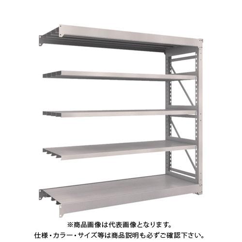 【運賃見積り】【直送品】 TRUSCO M10型重量棚 1800X620XH1800 5段 連結 ネオグレー M10-6665B:NG