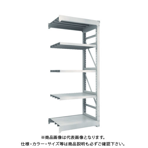 【運賃見積り】【直送品】 TRUSCO M10型重量棚 900X620XH2100 5段 連結 ネオグレー M10-7365B:NG