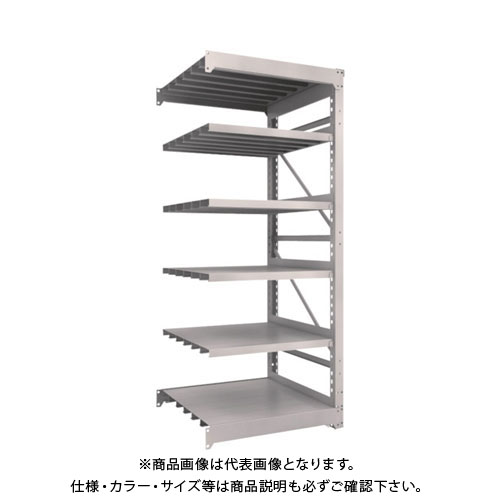 【運賃見積り】【直送品】 TRUSCO M10型重量棚 900X900XH2100 6段 連結 ネオグレー M10-7396B:NG