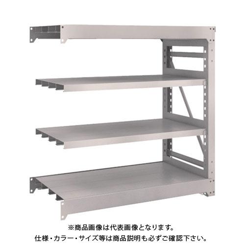 【運賃見積り】【直送品】 TRUSCO M10型重量棚 1200X620XH1200 4段 連結 ネオグレー M10-4464B:NG