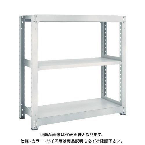 【運賃見積り】【直送品】 TRUSCO M3型中量棚 1800X921XH1200 3段 単体 ネオグレー M3-4693:NG