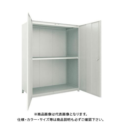 【運賃見積り】【直送品】 TRUSCO M2型棚 背板・側板・扉付 W1500XD595 3段 M2-6563-SGD