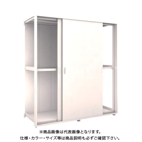 【運賃見積り】【直送品】 TRUSCO M2型棚 背板・引違扉付 W900X2連XD595 3段 連結 M2-6363-2RSK-B