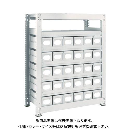 【運賃見積り】【直送品】 TRUSCO M3型中量棚 H1200 スチール引出付 小X30 M3-4357-A30