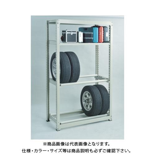 【運賃見積り】【直送品】 TRUSCO M3型中量棚 1500X721XH1800 3段+タイヤ1段 M3-6573Y1