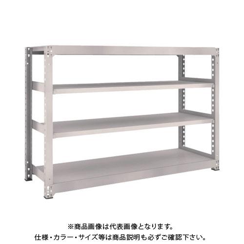 【運賃見積り】【直送品】 TRUSCO M5型中量棚 1800X571XH1200 4段 単体 ネオグレー M5-4664:NG