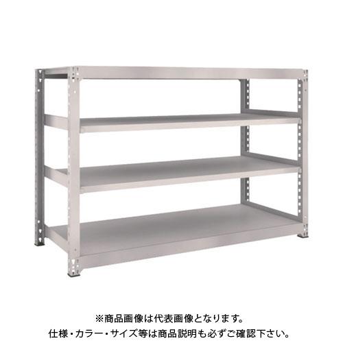 【運賃見積り】【直送品】 TRUSCO M5型中量棚 1800X721XH1200 4段 単体 ネオグレー M5-4674:NG