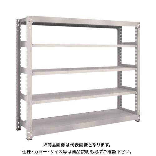 【運賃見積り】【直送品】 TRUSCO M5型中量棚 1800X471XH1500 5段 単体 ネオグレー M5-5655:NG