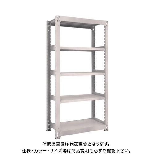 【運賃見積り】【直送品】 TRUSCO M5型中量棚 900X471XH1800 5段 単体 ネオグレー M5-6355:NG