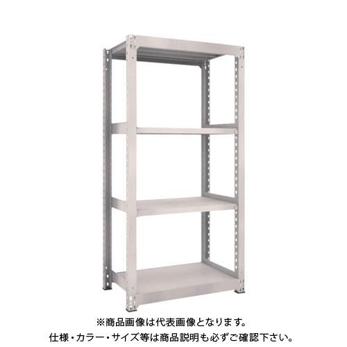 【運賃見積り】【直送品】 TRUSCO M5型中量棚 900X571XH1800 4段 単体 ネオグレー M5-6364:NG