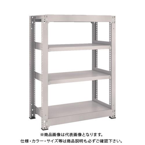 【運賃見積り】【直送品】 TRUSCO M5型中量棚 900X471XH1200 4段 単体 ネオグレー M5-4354:NG