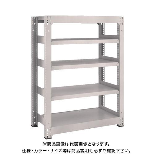 【運賃見積り】【直送品】 TRUSCO M5型中量棚 900X471XH1200 5段 単体 ネオグレー M5-4355:NG