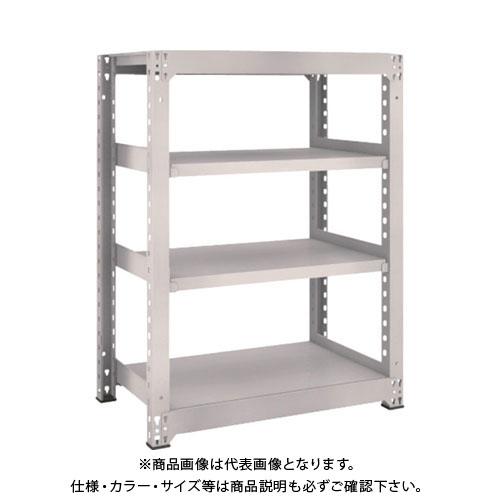 【運賃見積り】【直送品】 TRUSCO M5型中量棚 900X571XH1200 4段 単体 ネオグレー M5-4364:NG