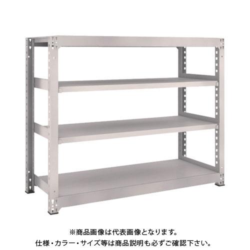 【運賃見積り】【直送品】 TRUSCO M5型中量棚 1500X571XH1200 4段 単体 ネオグレー M5-4564:NG