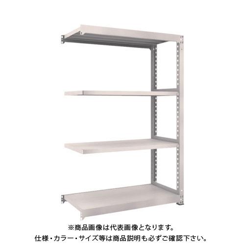 【運賃見積り】【直送品】 TRUSCO M5型中量棚 1200X571XH1800 4段 連結 ネオグレー M5-6464B:NG