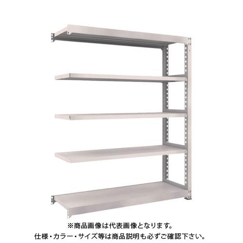 【運賃見積り】【直送品】 TRUSCO M5型中量棚 1500X471XH1800 5段 連結 ネオグレー M5-6555B:NG