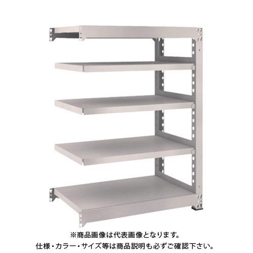 【運賃見積り】【直送品】 TRUSCO M5型中量棚 900X571XH1200 5段 連結 ネオグレー M5-4365B:NG