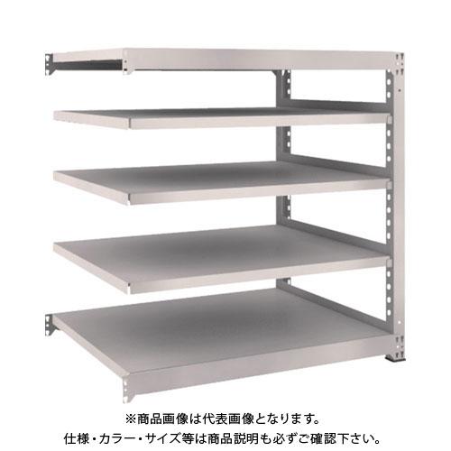 【運賃見積り】【直送品】 TRUSCO M5型中量棚 1200X921XH1200 5段 連結 ネオグレー M5-4495B:NG