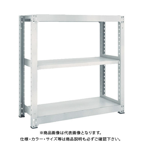 【運賃見積り】【直送品】 TRUSCO M5型中量棚 1500X471XH1200 3段 単体 ネオグレー M5-4553:NG