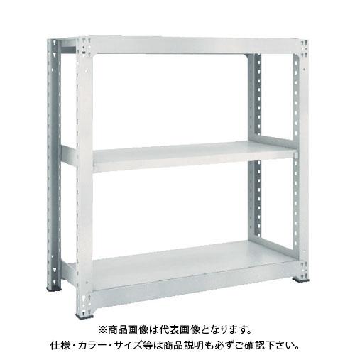 【運賃見積り】【直送品】 TRUSCO M5型中量棚 1500X721XH1200 3段 単体 ネオグレー M5-4573:NG