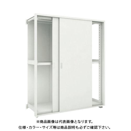 【運賃見積り】【直送品】 TRUSCO M3型棚 背板・引違扉付 W1200XD471 3段 連結 M3-6453-SK-B