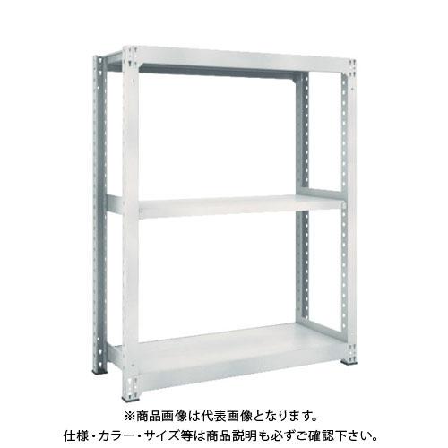 【運賃見積り】【直送品】 TRUSCO M5型中量棚 1500X471XH1500 3段 単体 ネオグレー M5-5553:NG