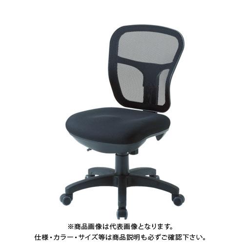 【運賃見積り】【直送品】 TRUSCO オフィスチェア MC-2 背面メッシュタイプ ブラック MC-2-BK