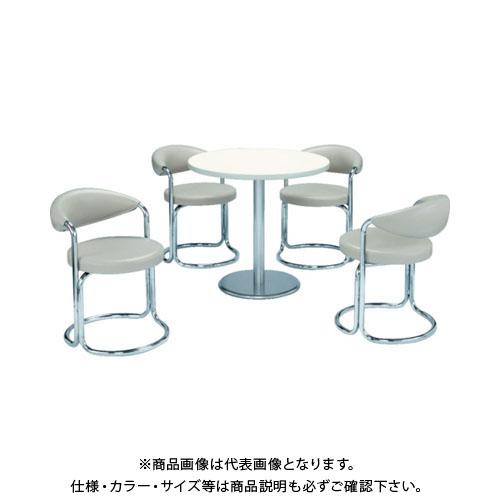 【運賃見積り】【直送品】 ミズノ 簡易応接セット用丸テーブル(アイボリー) MBT-750R