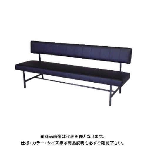 【直送品】 ミズノ ロビーチェア 背付き 黒 MC-1218:BK