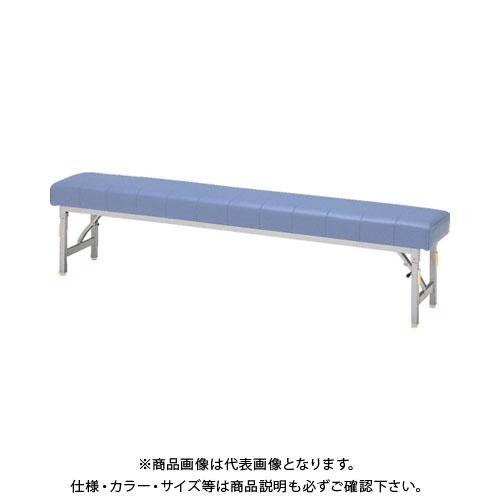 【直送品】 ミズノ ロビーチェア 背無し 青 MC-1428S:B