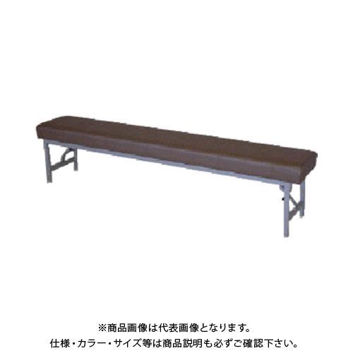 【直送品】 ミズノ ロビーチェア 背無し 薄茶 MC-1428S:LBR