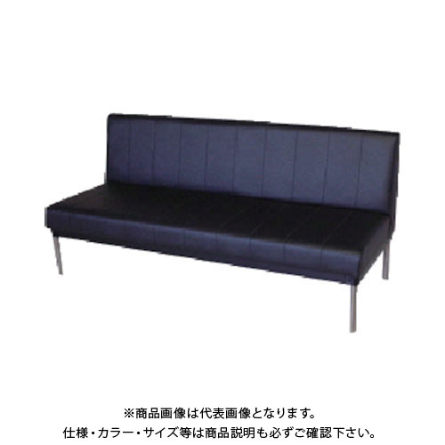 【直送品】 ミズノ ロビーチェア 背付き 黒 MC-415:BK