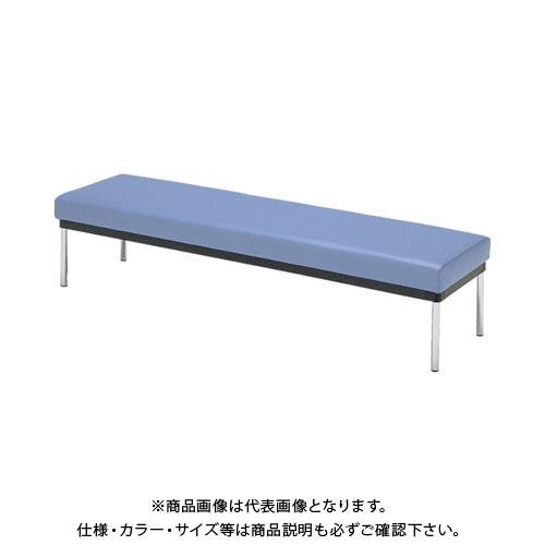 【直送品】 ミズノ ロビーチェア 背無し 青 MC-7B:B