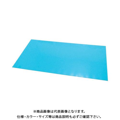 【運賃見積り】【直送品】 エクシール ステップマット薄型3mm厚 900×600 ブルーグリーン MAT3-0906