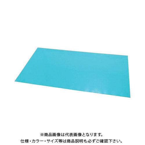 【運賃見積り】【直送品】 エクシール ステップマット薄型6mm厚 900×600 ブルーグリーン MAT6-0906