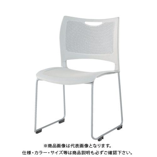 【運賃見積り】【直送品】 アイリスチトセ ミーティングチェア 背・座メッシュ樹脂タイプ ホワイト MC-MKT01-W