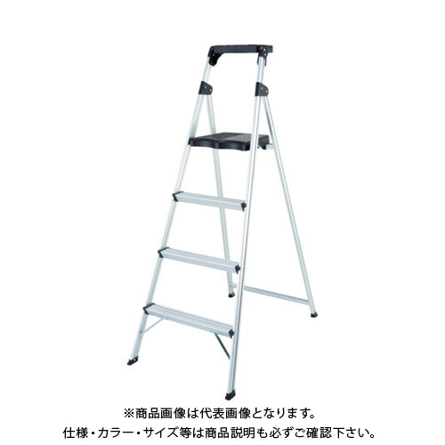 【個別送料1000円】【直送品】 ピカ 上枠付き踏み台 4段 MFT-4