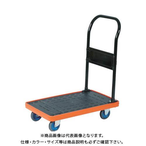 TRUSCO MKP樹脂製台車 固定式 716X436 エアキャスター付 MKP-158AC