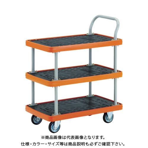 【直送品】TRUSCO MKP樹脂製台車 3段式 716X436 MKP-155