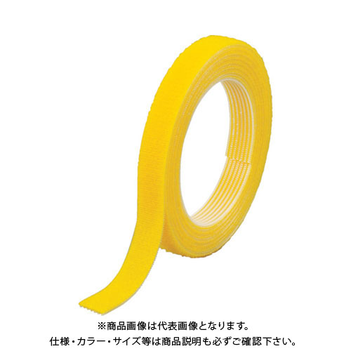 TRUSCO マジックバンド結束テープ 両面 幅40mmX長さ30m 黄 MKT-40W-Y