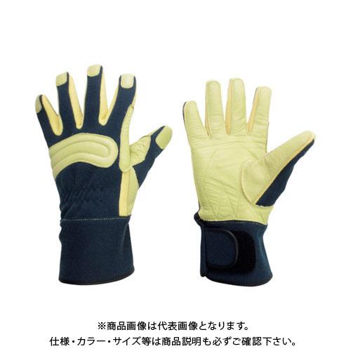 ミドリ安全 消防・レンジャー用 防火手袋 (豚革補強タイプ) M MK-FM-2-NV-M