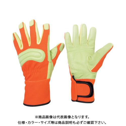 ミドリ安全 消防・レンジャー用 防火手袋 (豚革補強タイプ) M MK-FM-2-OR-M