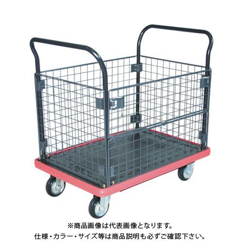 【直送品】TRUSCO MKP樹脂製台車 金網付 716×436 MKP-157