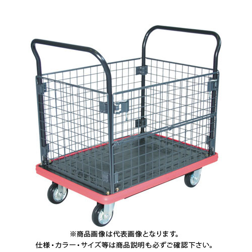 【直送品】TRUSCO MKP樹脂製台車 金網付 906×616 MKP-307