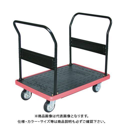 【直送品】 TRUSCO MKP樹脂製台車 両袖ハンドル 716×436 MKP-153