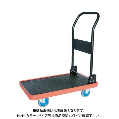 【直送品】TRUSCO MKP樹脂製台車 折畳式 716X436 エアキャスター付 ブルー MKP-151AC-B