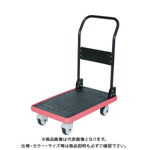 【直送品】TRUSCO MKP樹脂製台車 折畳式 906X616 樹脂キャスター ブルー MKP-301P-B