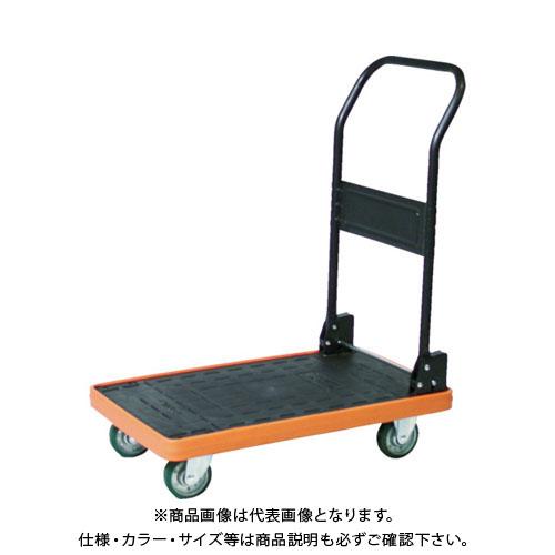 【直送品】TRUSCO MKP樹脂製台車 折畳式 906X616 ウレタン ブルー MKP-301U-B