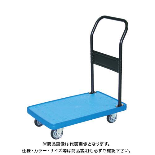 【運賃見積り】【直送品】TRUSCO MKP樹脂製台車 固定式 906X616 ブルー MKP-302-B
